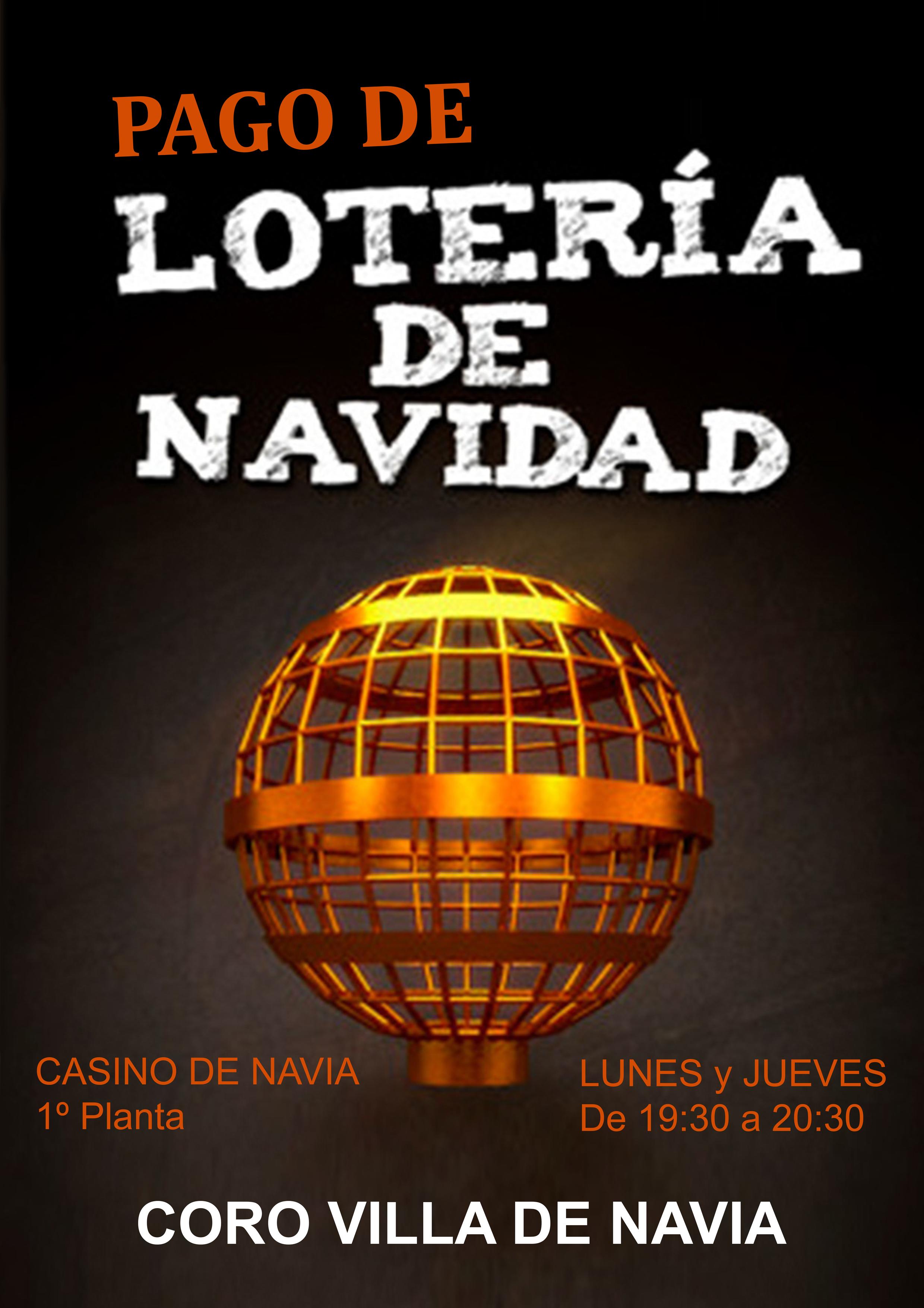 Cartel Pago de la Lotería